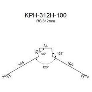 Hřebenáč RS312H-120 SP25 RAL9005 0,50mm 2bm