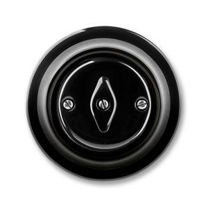 Přepínač střídavý otočný řazení 6 Decento černá