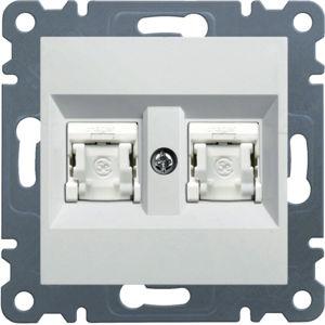 Zásuvka datová CAT5e UTP 2×RJ45, lumina2 WL2120