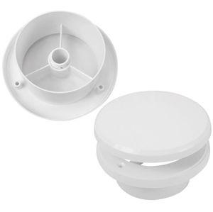 Ventil talířový s regulací TV, průměr 100 mm,bílý