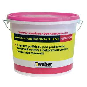 Probarvený podkladní nátěr Weber.pas podklad UNI pod omítku, bílý (W), 1kg