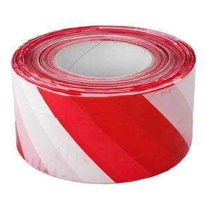 Výstražná páska 70 mm×500 m, červeno-bílá