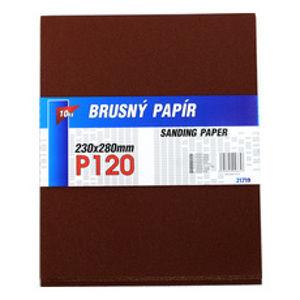 Papír smirkový 230x280mm P120,(10ks/bal)-121719