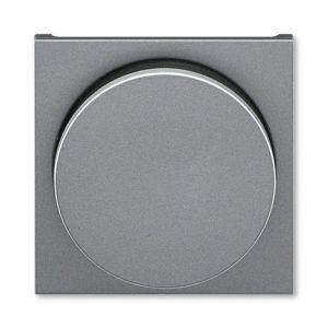 Kryt stmívače s otočným ovladačem Levit ocel/kouřová černá