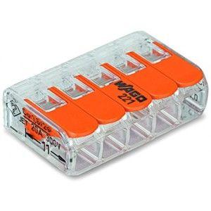 Svorka krabicová 5x4 mm2, WAGO 221-415 (8ks/bal)