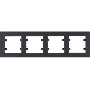 Rámeček vodorovný Hager lumina INTENSE, černá