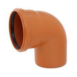 KGB koleno pro kanalizační potrubí DN 160 mm, úhel 87,5° , barva oranžová