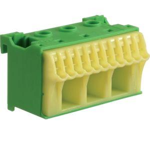 Blok bezšroubové PE svorkovnice, 14 svorek Hager KN14E