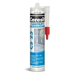 Sanitární silikon Ceresit CS 25 (280 ml/bal), cement grey