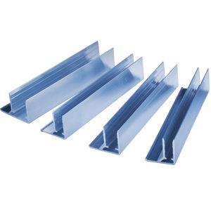 Ukončovací U hliníkový profil pro polykarbonátové desky 16mm, délka 6m