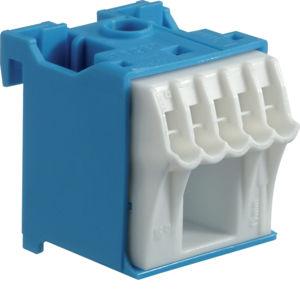 Blok bezšroubové N svorkovnice, 6 svorek Hager KN06N