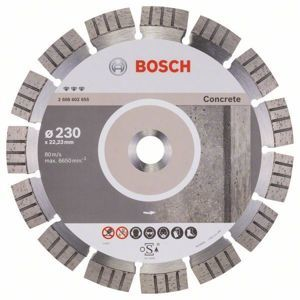 Diamantový řezný kotouč Bosch Best for Concrete 180×25,4 mm