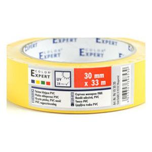 Páska rýhovaná žlutá 30mm/33m UV, PVC - 96103020