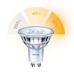 Philips LED SceneSwitch GU10 přepínatelná 50/20/5 W teplá bílá