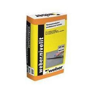 Weber.nivelit samonivelační modifikovaná cementová podlahová hmota, 25kg