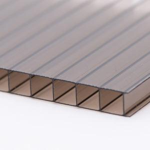 Polykarbonátová dutinková deska MULTICLEAR 10 BOX 2 bronz s UV ochranou 2100×4000 mm