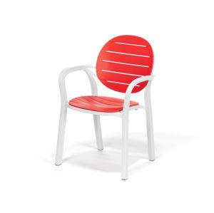 Polypropylenová židle MOLLY červená