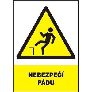 Nebezpečí pádu - plastová tabulka A4