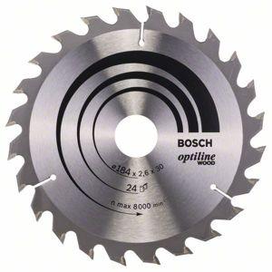 Kotouč pilový Bosch Optiline Wood 184×30×1,6 mm 24 z.