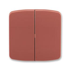 Kryt spínače kolébkového dělený Tango vřesová červená