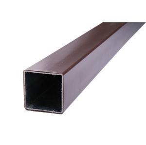 Sloupek pro montáž plotovek FeZn (poplastovaný) 60x60 mm (1,5 m) tmavě hnědý