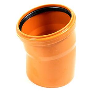 KGB koleno pro kanalizační potrubí DN 110 mm, úhel 15°, barva oranžová
